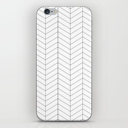 Herringbone - Black + White iPhone Skin
