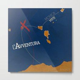 L'avventura, Monica Vitti, Michelangelo Antonioni, italian cinema, film, sea adventures, hollywood Metal Print