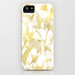 Marble gold iPhone Case