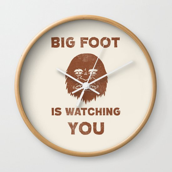 Big Foot Is Watching You Wall Clock