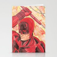 daredevil Stationery Cards featuring Daredevil by Kirsten L George