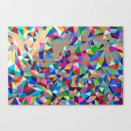Geometric Rainbow Cluster on Wood Canvas Print