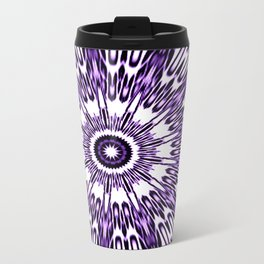 Purple White Black Explosion Travel Mug