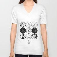 circles V-neck T-shirts featuring Circles by LSjoberg