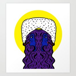 Gemini Goddesses Art Print