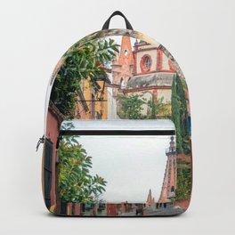 San Miguel de Allende, Guanajuato, Mexico. Backpack