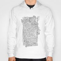 blueprint Hoodies featuring Home Blueprint by Max Bayarsky