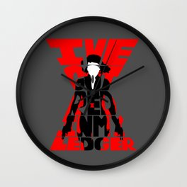 Black widow red Wall Clock