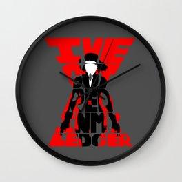 Black widow red Wall Clock