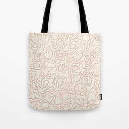 Puzzle Drawing #2 Gold Tote Bag