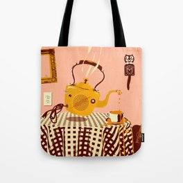 ORANGE TEA SPILL Tote Bag