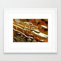 saxophone Framed Art Prints featuring Saxophone by JudithsPhotos
