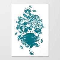 vegetables Canvas Prints featuring Vegetables  by Sarah Dennis