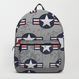 U.S. Military Aviation Star National Roundel Insignia Backpack