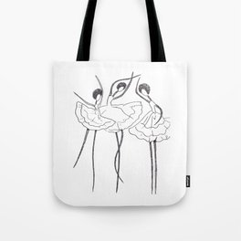 Ink and Ballet 3 Tote Bag