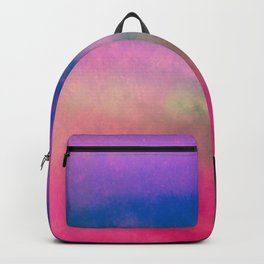 Fog Forest Mountain - Pink Rainbow Northern Lights Backpack