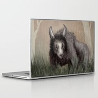 beastie boys Laptop & iPad Skins featuring Forest Beastie by Mr Patch
