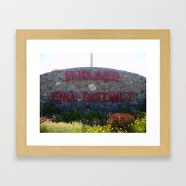 HOPLAND FIRE DISTRICT  Framed Art Print