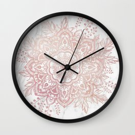Queen Starring of Mandala-White Marble Wall Clock