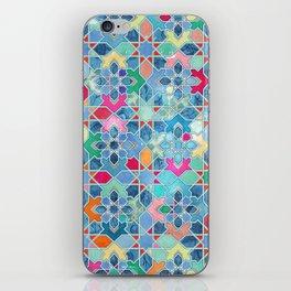 Pretty Pastel Moroccan Tile Mosaic Pattern iPhone Skin