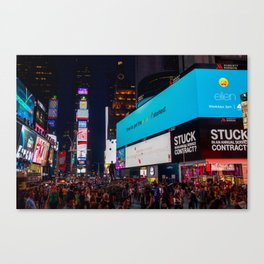 Iconic Time Square Canvas Print