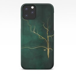 Kintsugi Emerald #green #gold #kintsugi #japan #marble #watercolor #abstract iPhone Case