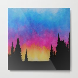 Saturated Sunset Metal Print