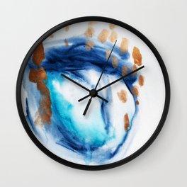watercolor art, abstract, Prints, watercolor print, art print, watercolor art, giclee print, waterco Wall Clock