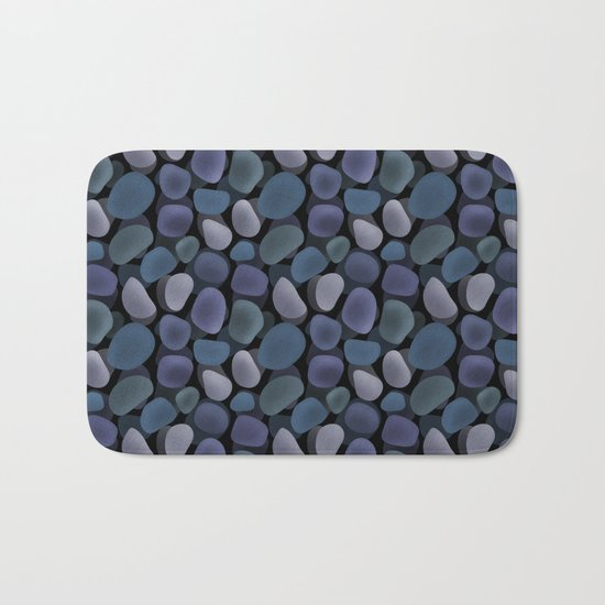 Abstract pattern . Sea stones .1 . Bath Mat