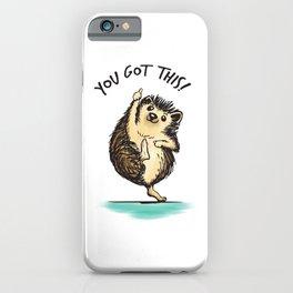 Motivational Hedgehog iPhone Case