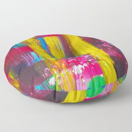 Colorful Abstract Art Design Floor Pillow
