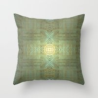 wooden Throw Pillows featuring Wooden Pattern by Barruf designs