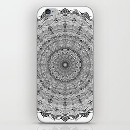 Mandala Project 626 | Black and White Lace Mandala iPhone Skin