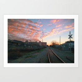 Big Sky Bywater, New Orleans Art Print