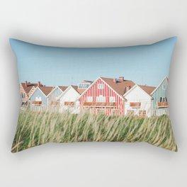Stripes Beach Houses Rectangular Pillow