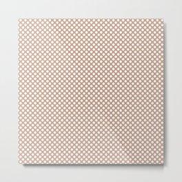 Maple Sugar and White Polka Dots Metal Print
