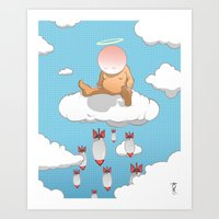bombs away Art Prints featuring Bombs Away by Ken Walendzik
