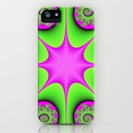 Kaleidoscope in Green and Pink iPhone Case