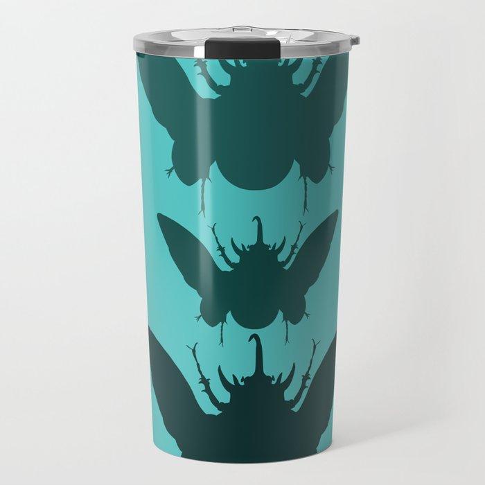 Beetles Pattern Travel Mug