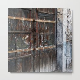 Antique Facade of Taormina in Sicily Metal Print
