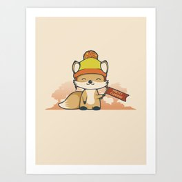 Pretty Cunning Art Print