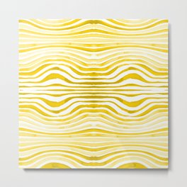 Rippled Gold Metal Print