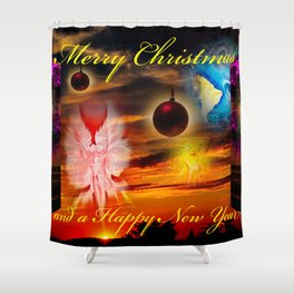 Merry Christmas and a Happy New Year Shower Curtain