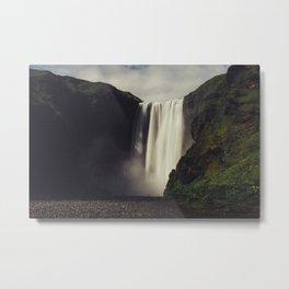 Waterfall In Iceland Metal Print