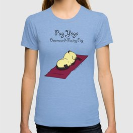 Pug Yoga - Downward-Facing Pug T-shirt