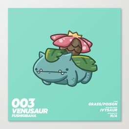 003 Venusaur Canvas Print