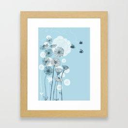 Summer Bees Framed Art Print