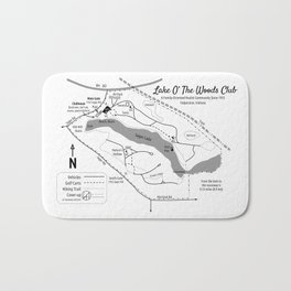 Lake O' The Woods Map O' The Grounds Bath Mat