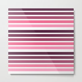 colorful lines decorative mininal pattern pink and purple Metal Print