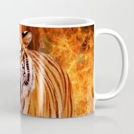 Tiger and Flame Coffee Mug